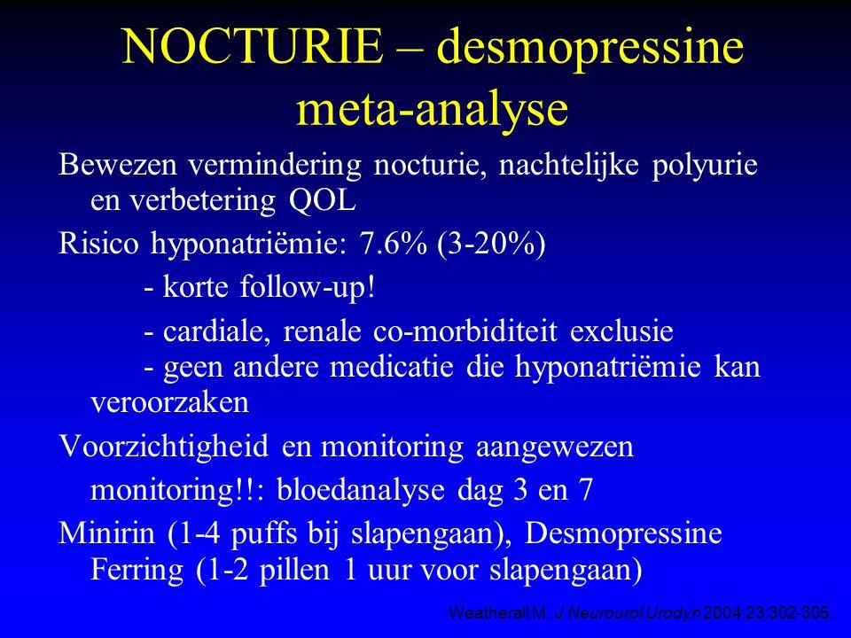 NOCTURIE – desmopressine meta-analyse