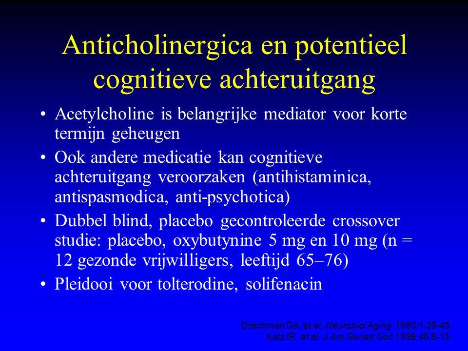 Anticholinergica en potentieel cognitieve achteruitgang