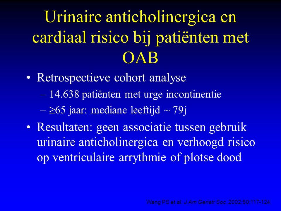 Urinaire anticholinergica en cardiaal risico bij patiënten met OAB
