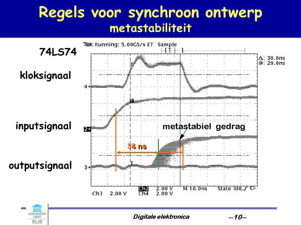 Regels voor synchroon ontwerp metastabiliteit
