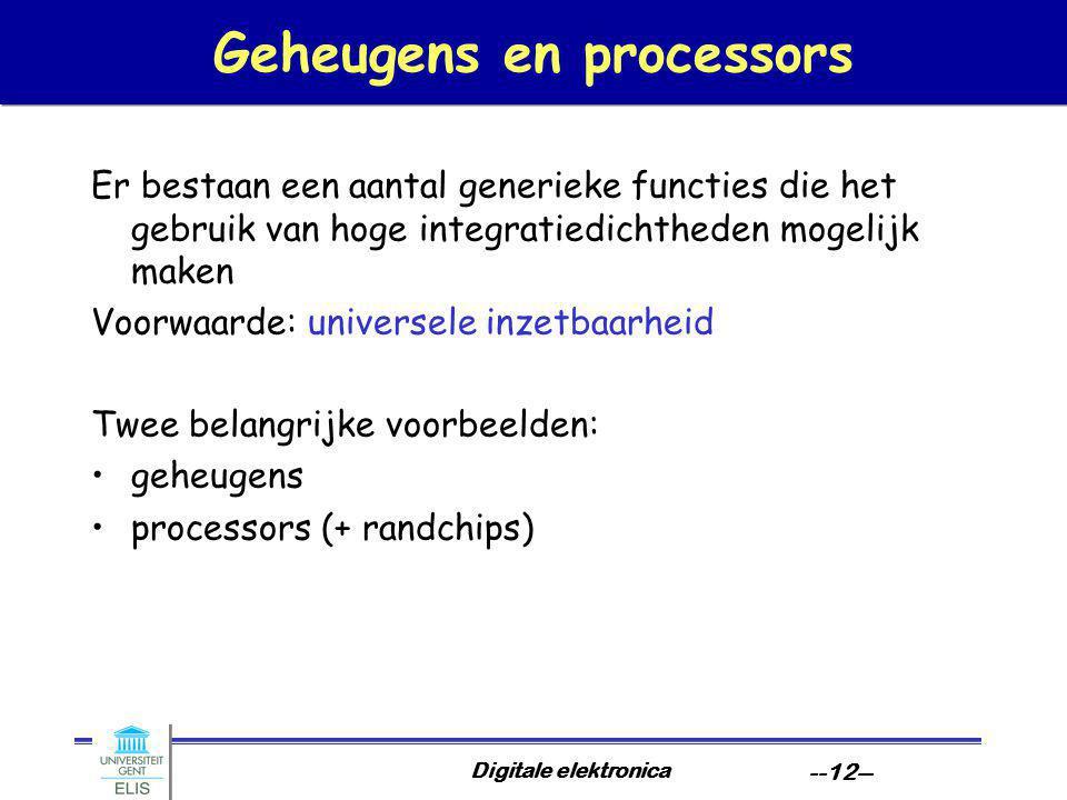 Geheugens en processors