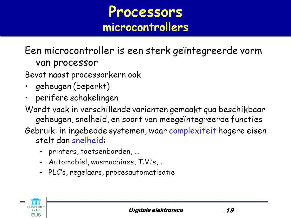 Processors microcontrollers