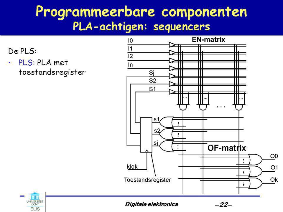 Programmeerbare componenten PLA-achtigen: sequencers