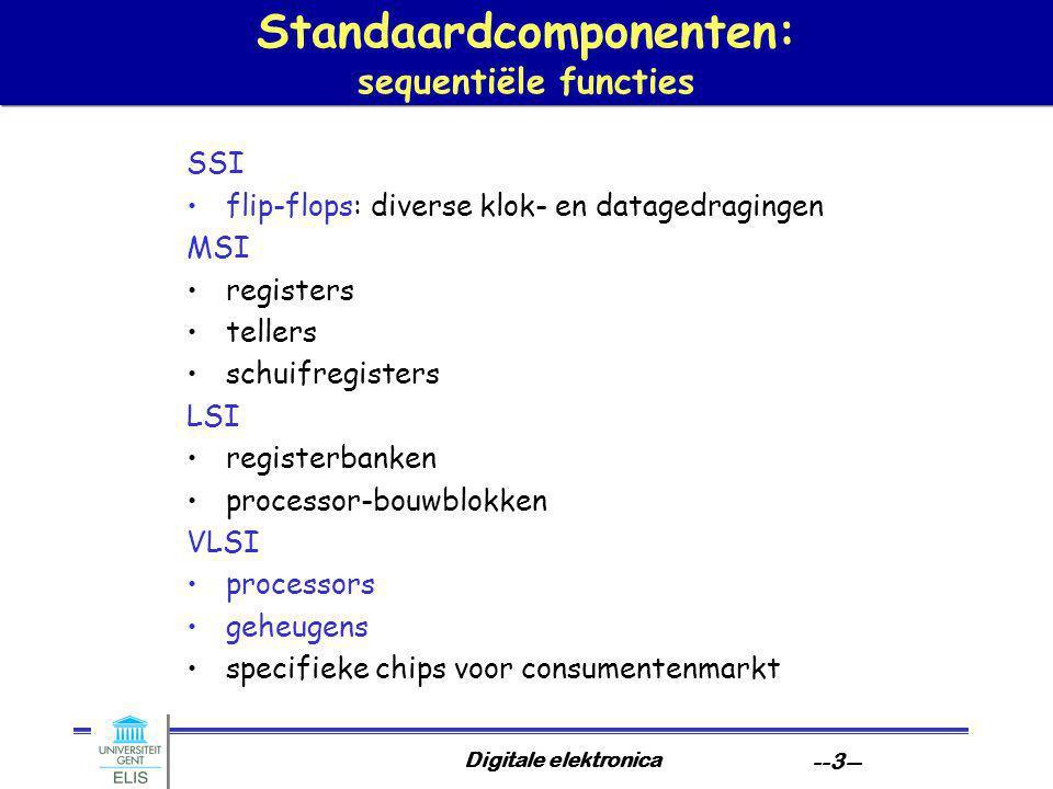 Standaardcomponenten: sequentiële functies