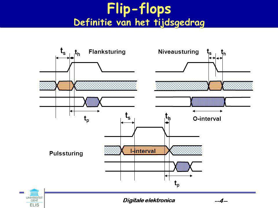 Flip-flops Definitie van het tijdsgedrag