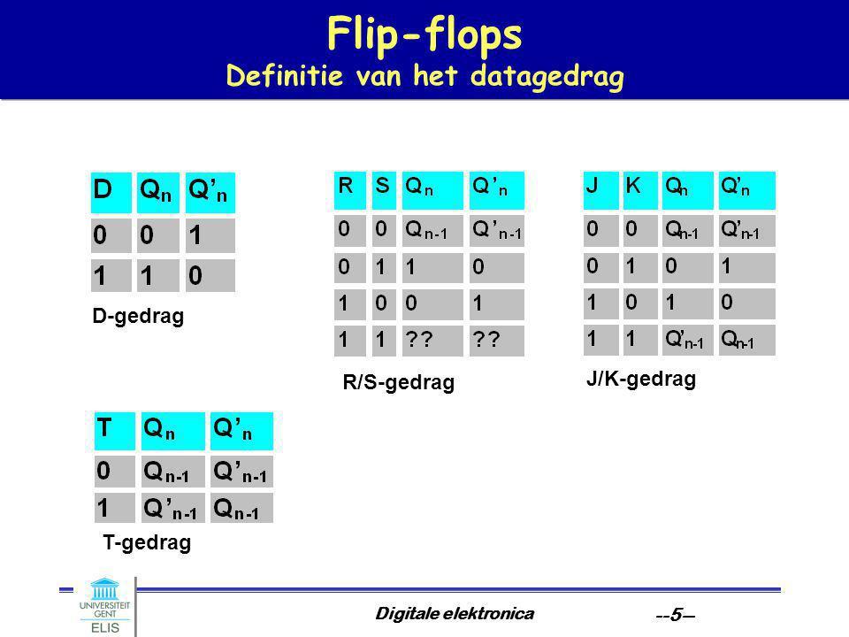 Flip-flops Definitie van het datagedrag