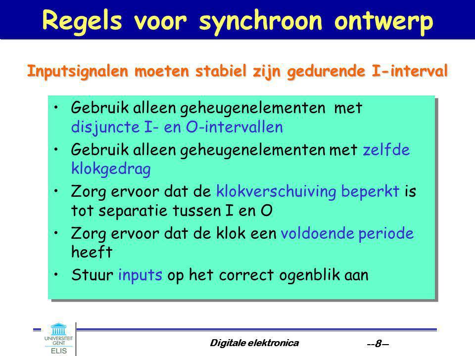 Regels voor synchroon ontwerp