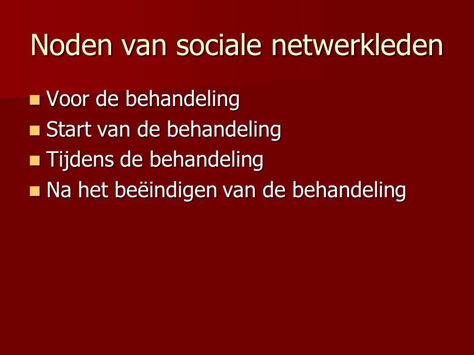 Noden van sociale netwerkleden