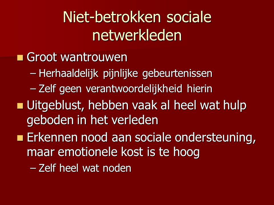 Niet-betrokken sociale netwerkleden
