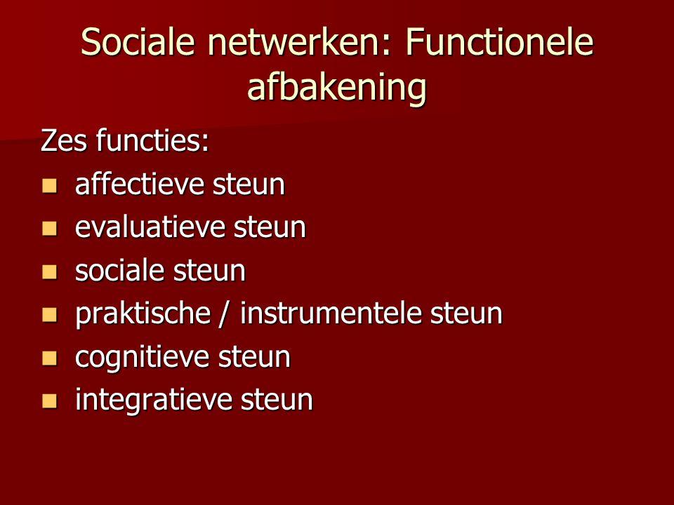 Sociale netwerken: Functionele afbakening