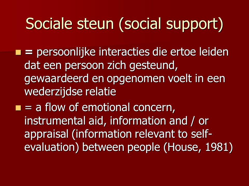 Sociale steun (social support)