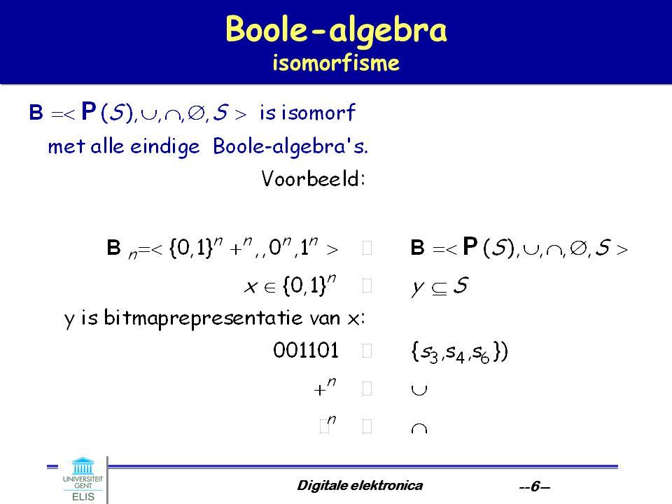 Boole-algebra isomorfisme