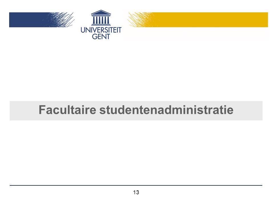 Facultaire studentenadministratie