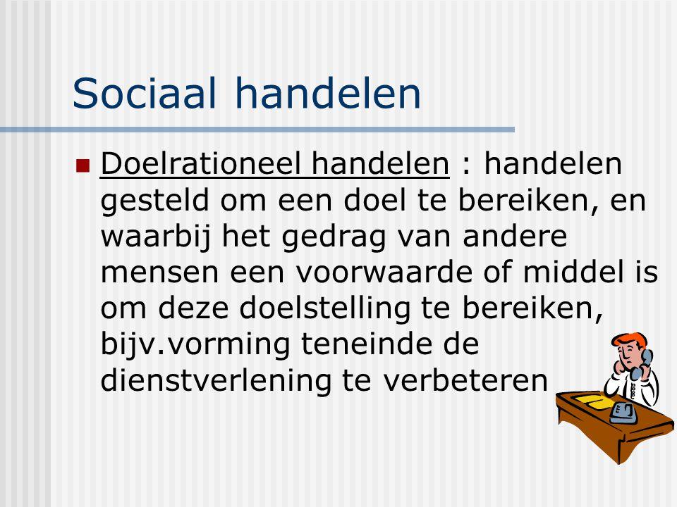 Sociaal handelen
