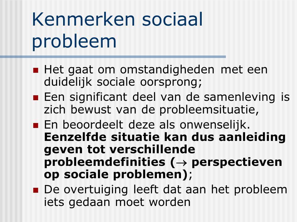 Kenmerken sociaal probleem
