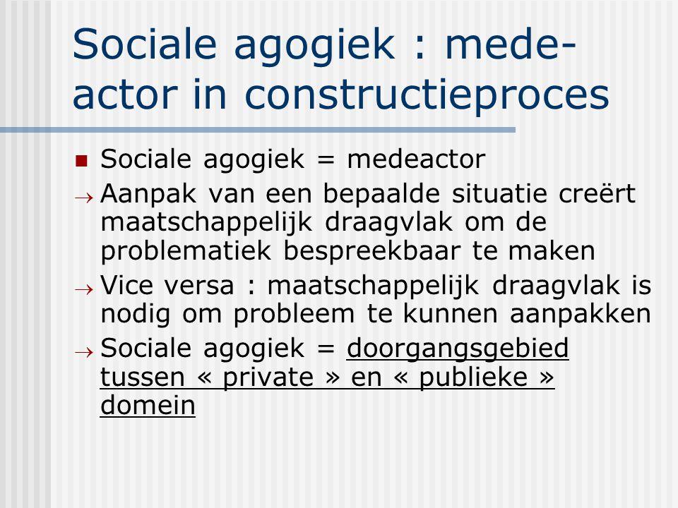 Sociale agogiek : mede-actor in constructieproces