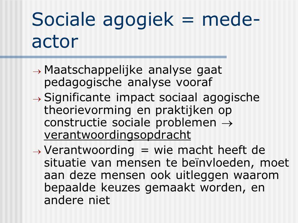 Sociale agogiek = mede-actor