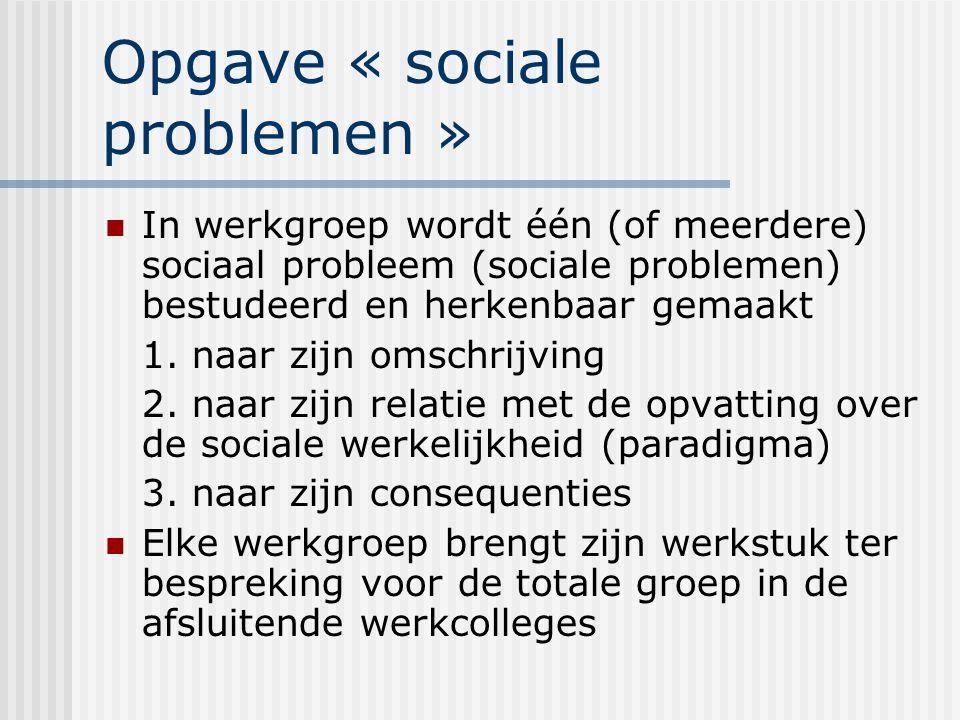 Opgave « sociale problemen »