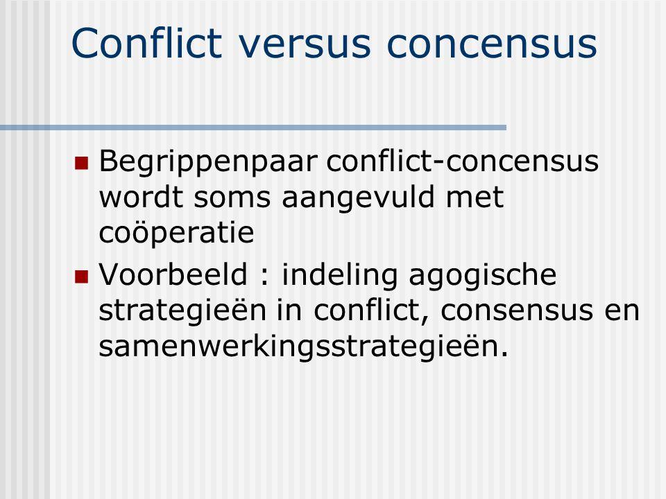 Conflict versus concensus