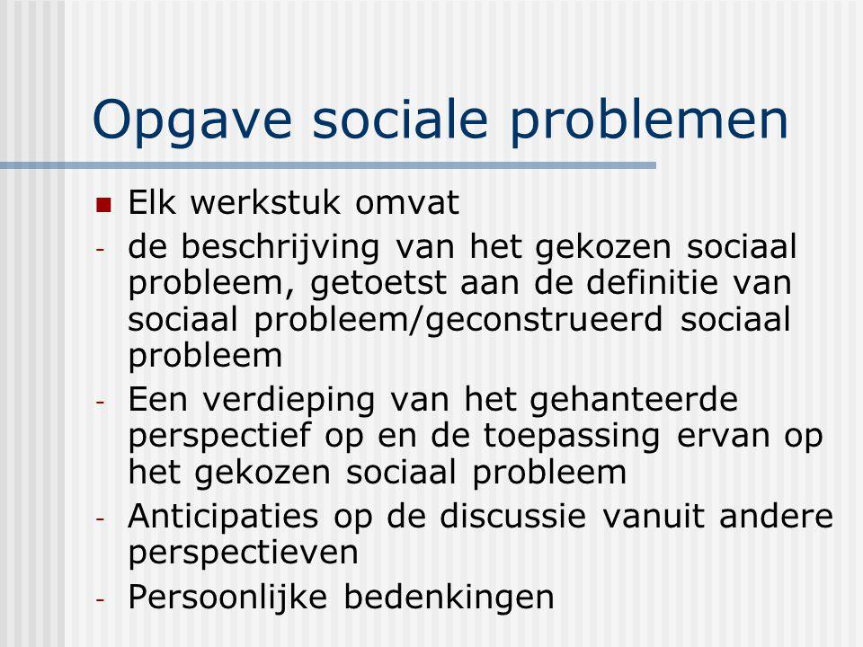 Opgave sociale problemen