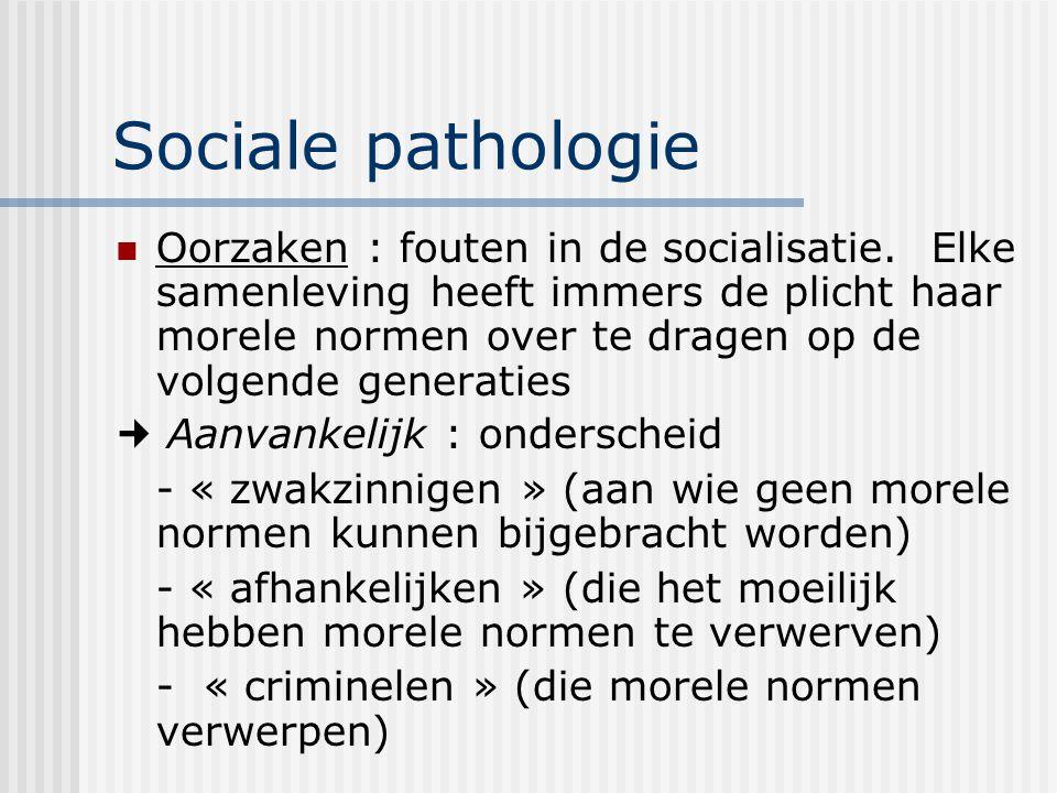 Sociale pathologie