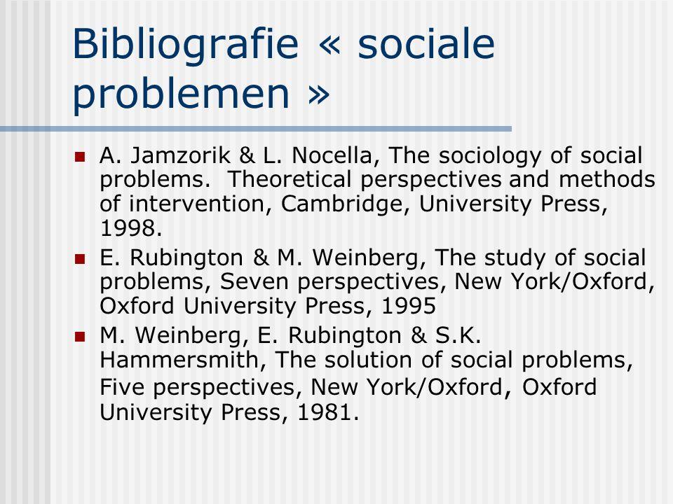 Bibliografie « sociale problemen »
