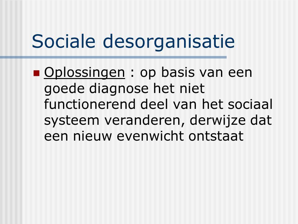 Sociale desorganisatie