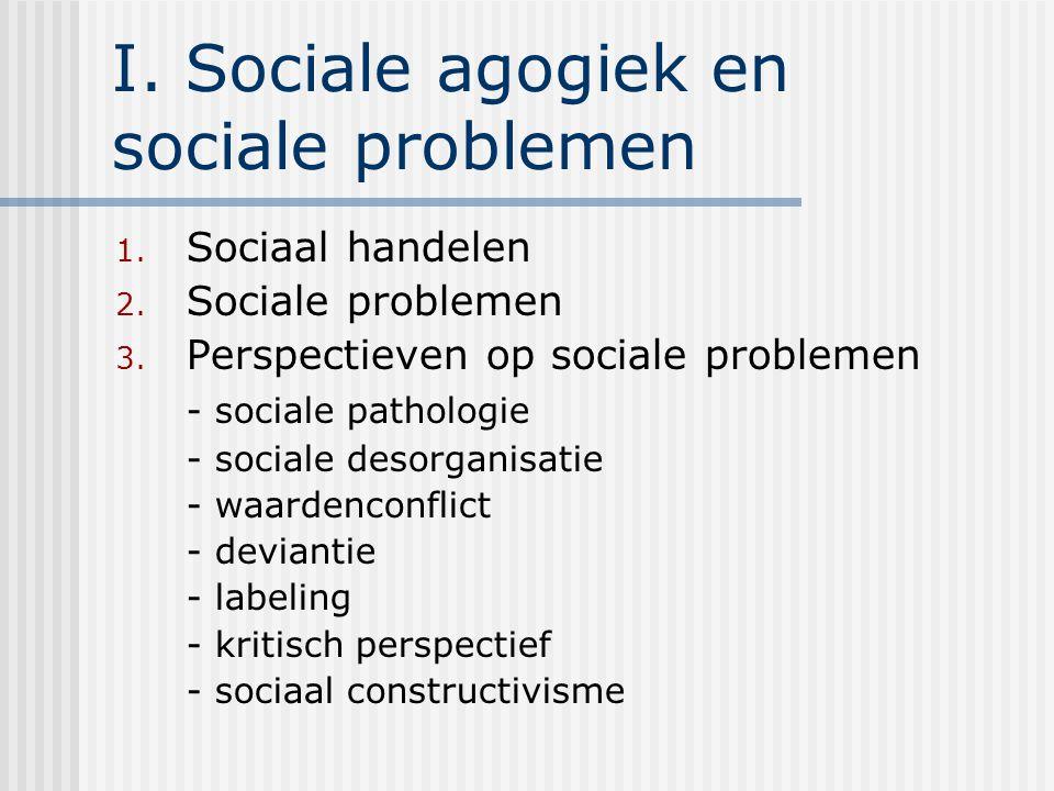 I. Sociale agogiek en sociale problemen