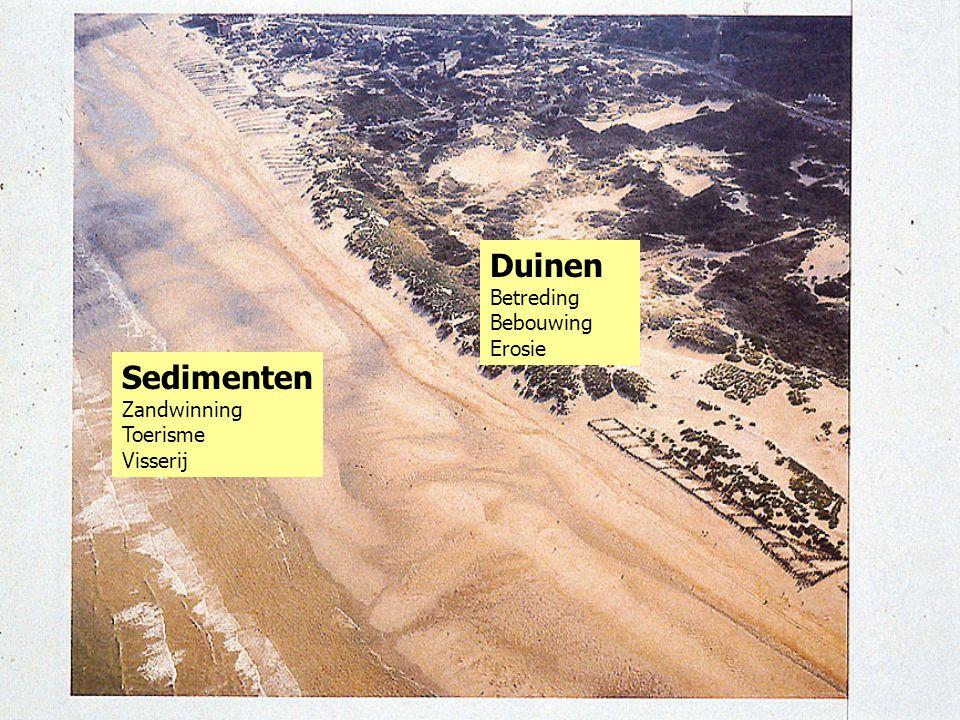 Duinen Sedimenten Betreding Bebouwing Erosie Zandwinning Toerisme