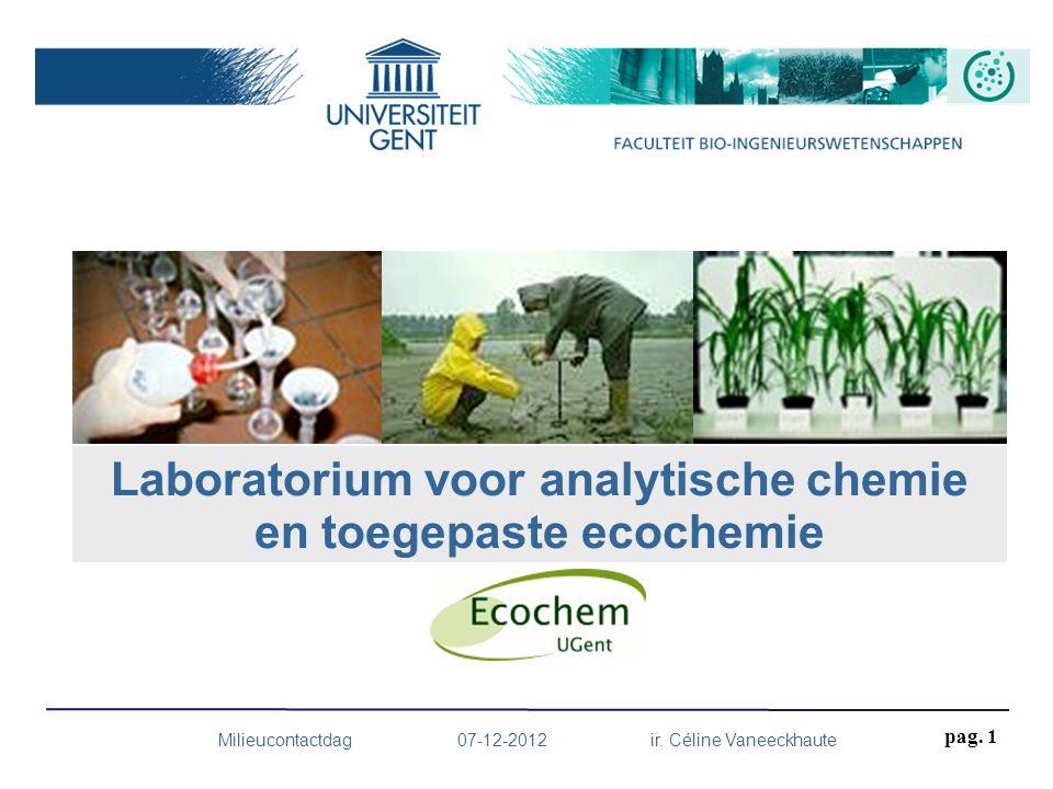 Laboratorium voor analytische chemie en toegepaste ecochemie