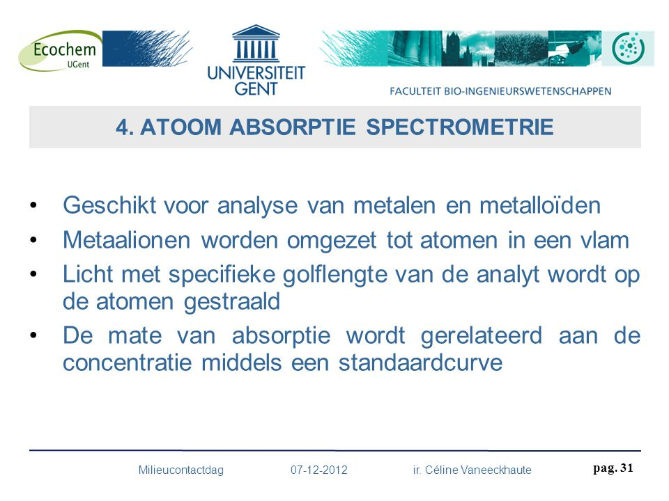 4. ATOOM ABSORPTIE SPECTROMETRIE