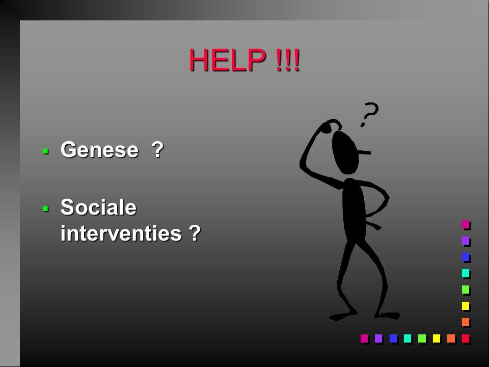 HELP !!! Genese Sociale interventies