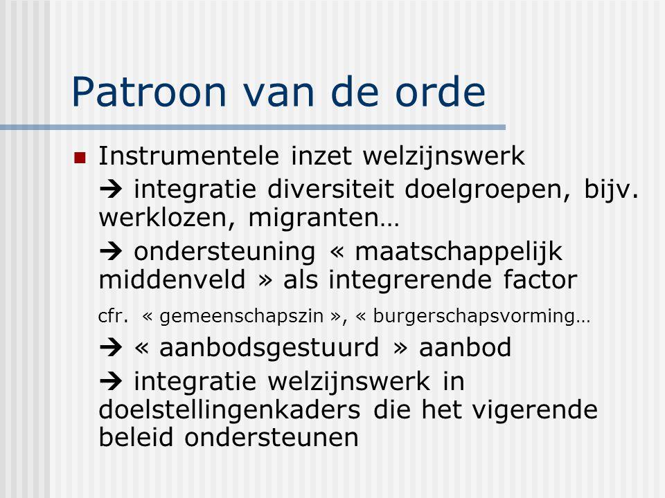 Patroon van de orde Instrumentele inzet welzijnswerk