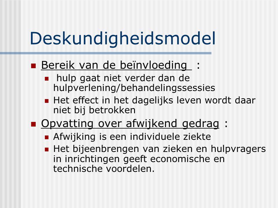 Deskundigheidsmodel Bereik van de beïnvloeding :