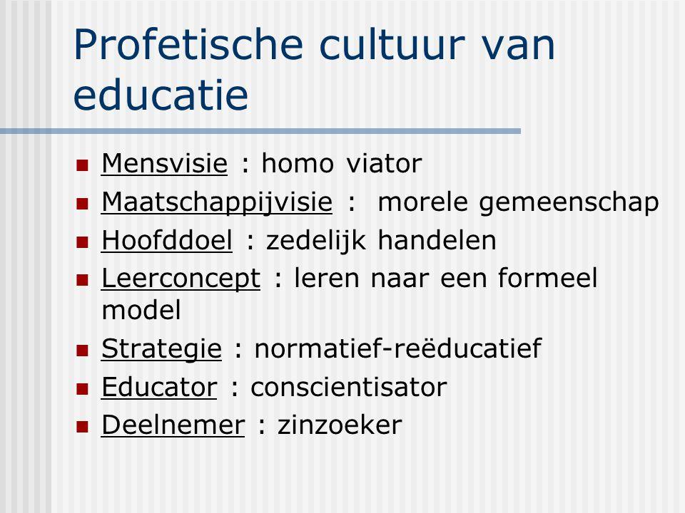 Profetische cultuur van educatie