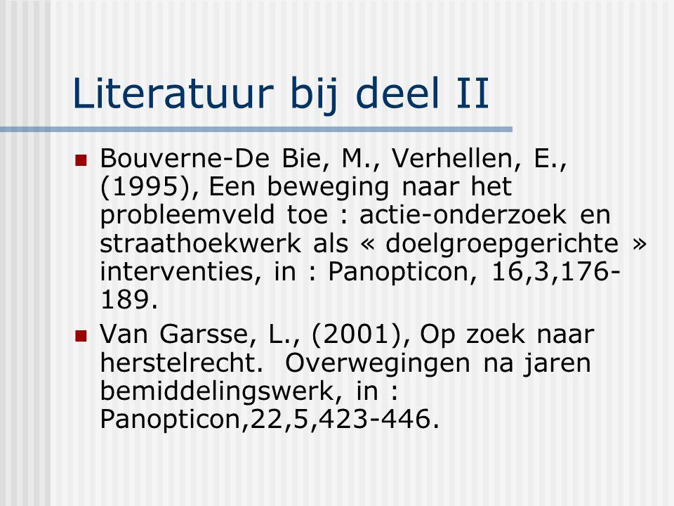 Literatuur bij deel II