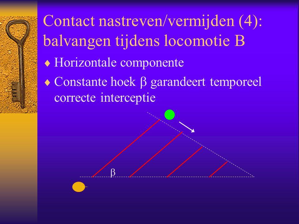 Contact nastreven/vermijden (4): balvangen tijdens locomotie B