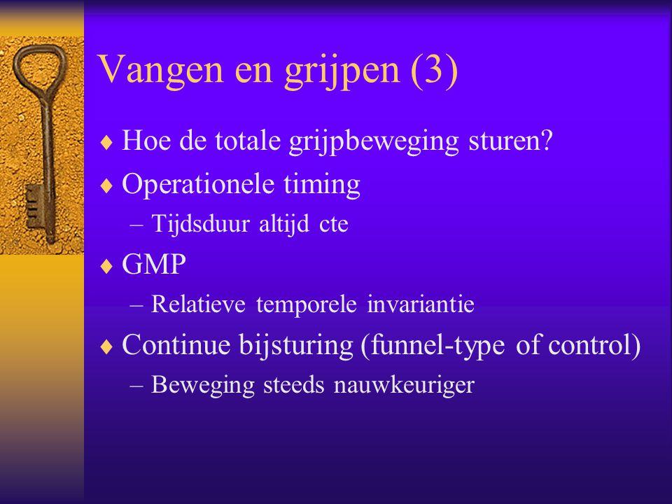 Vangen en grijpen (3) Hoe de totale grijpbeweging sturen