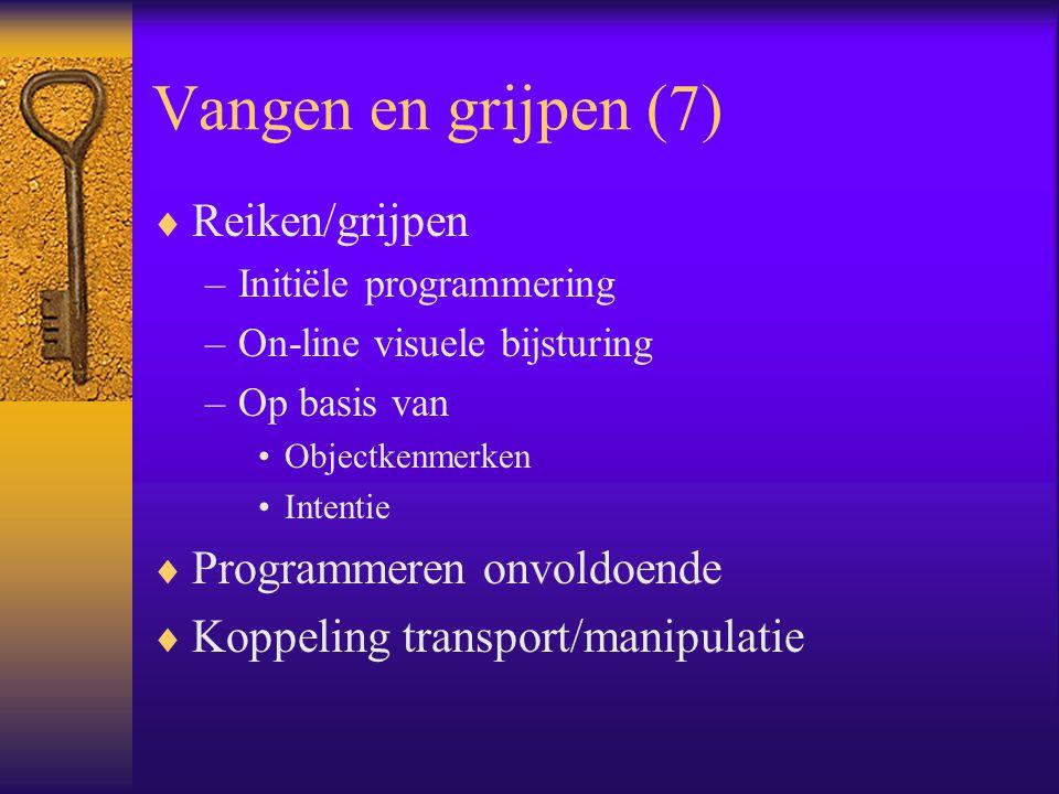 Vangen en grijpen (7) Reiken/grijpen Programmeren onvoldoende