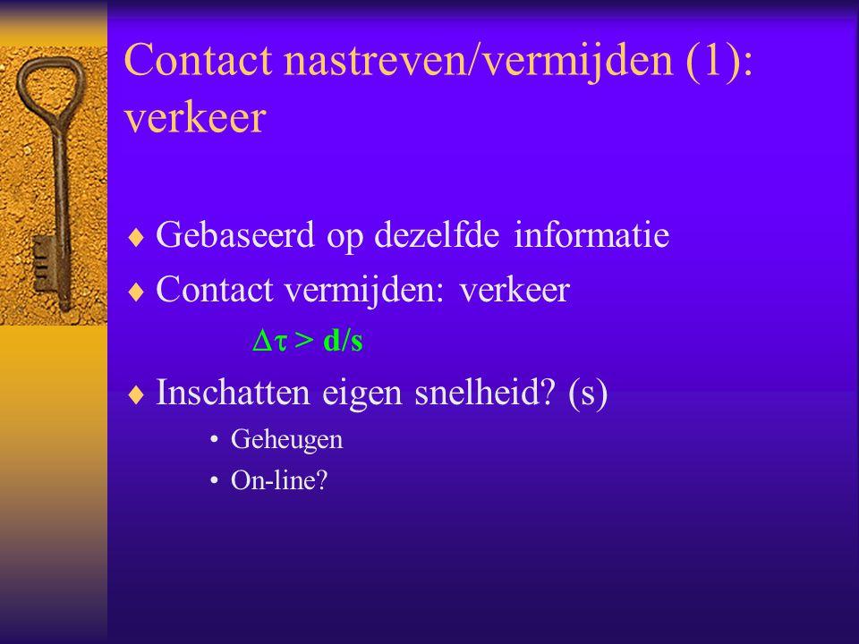 Contact nastreven/vermijden (1): verkeer