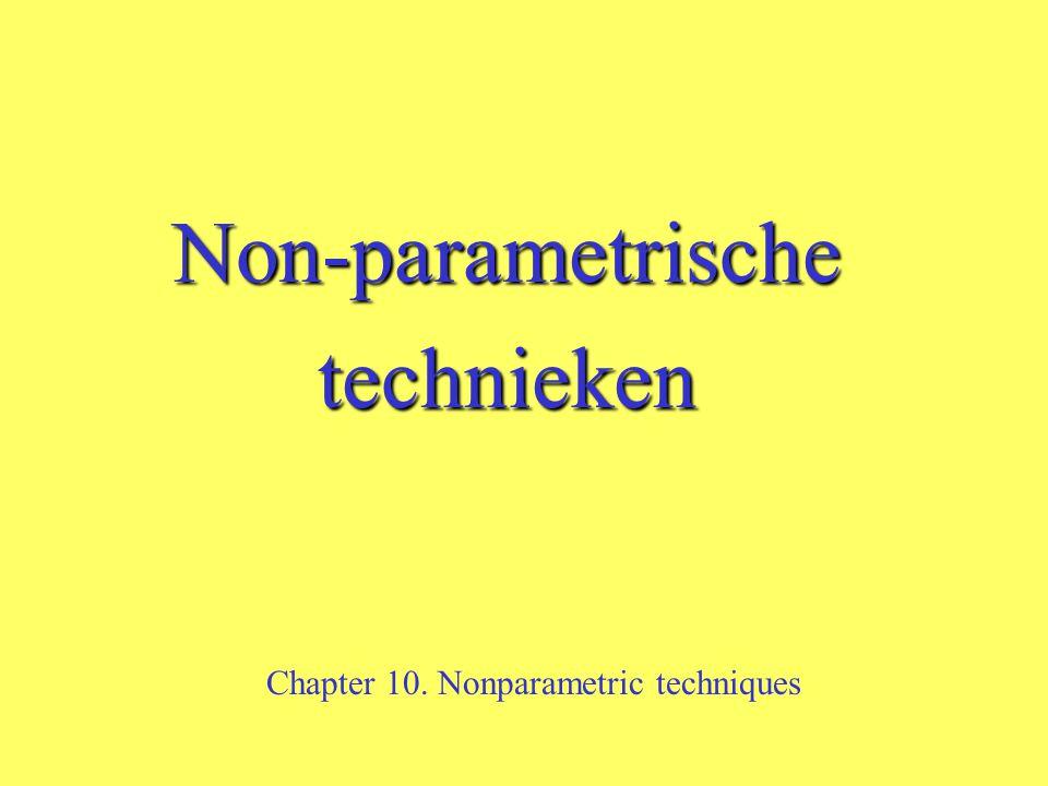 Non-parametrische technieken