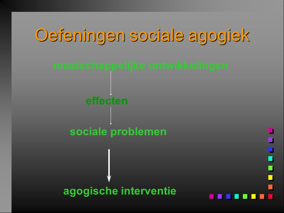 Oefeningen sociale agogiek