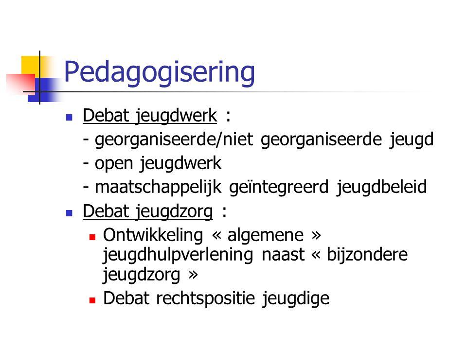 Pedagogisering Debat jeugdwerk :