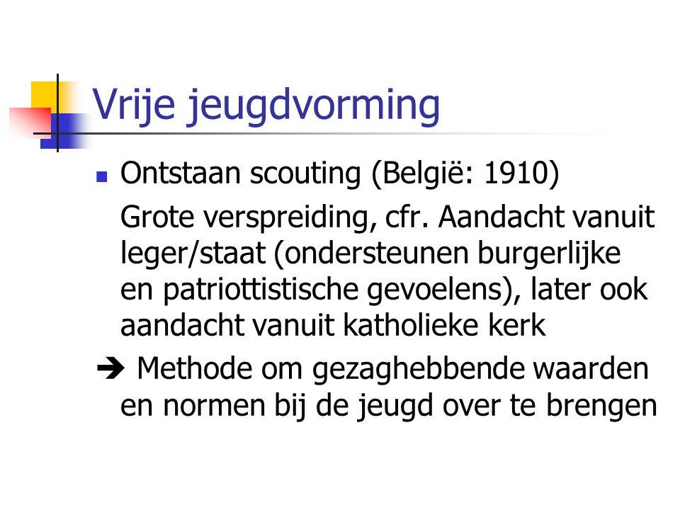 Vrije jeugdvorming Ontstaan scouting (België: 1910)