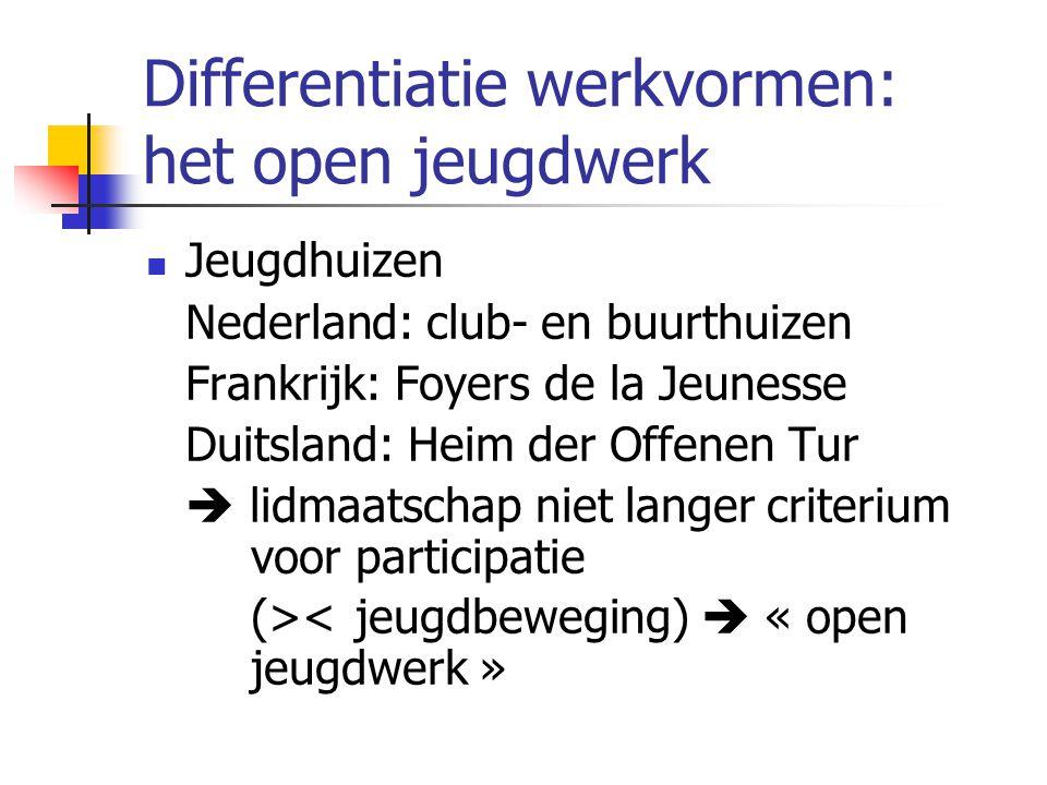 Differentiatie werkvormen: het open jeugdwerk