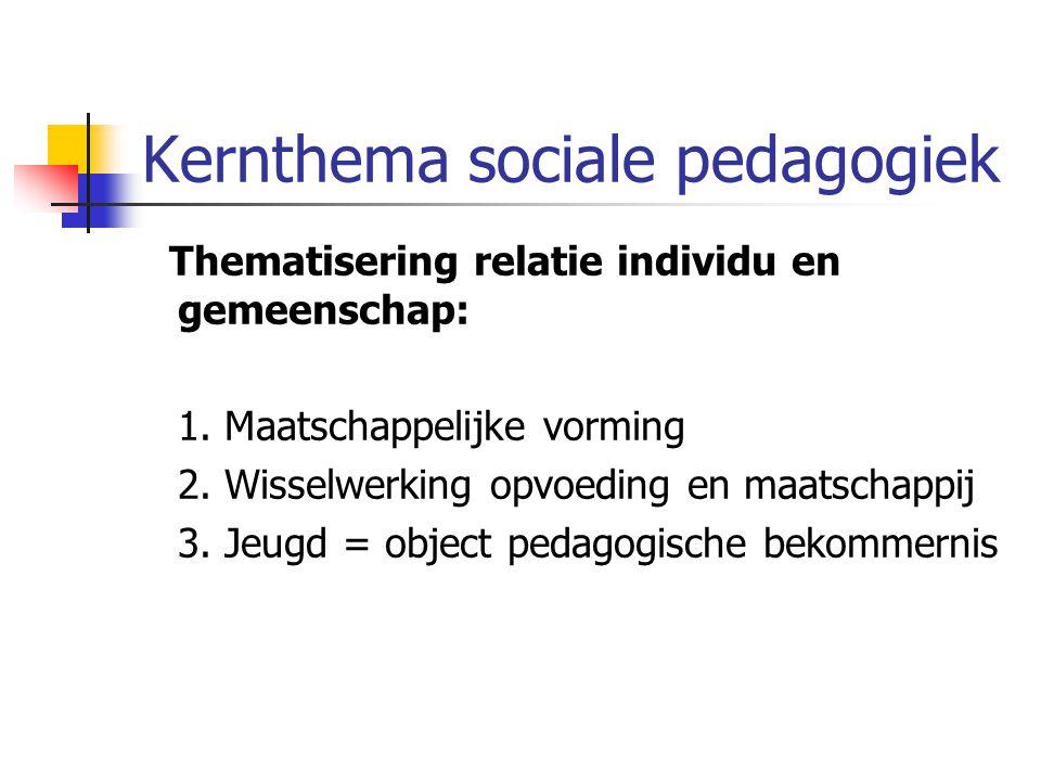 Kernthema sociale pedagogiek