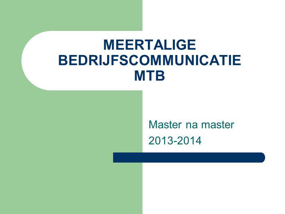 MEERTALIGE BEDRIJFSCOMMUNICATIE MTB