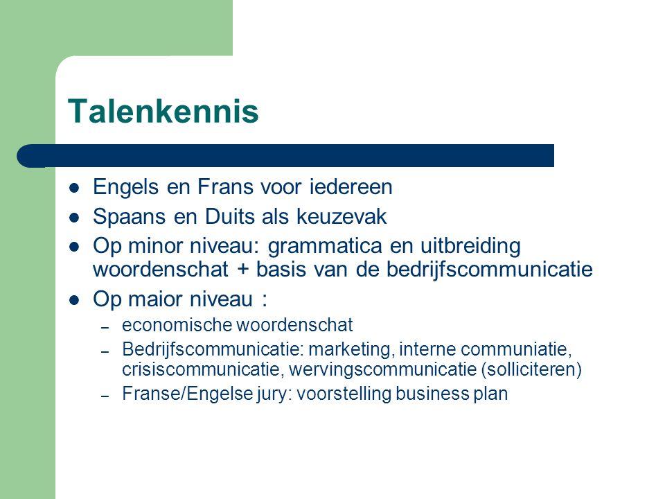 Talenkennis Engels en Frans voor iedereen Spaans en Duits als keuzevak