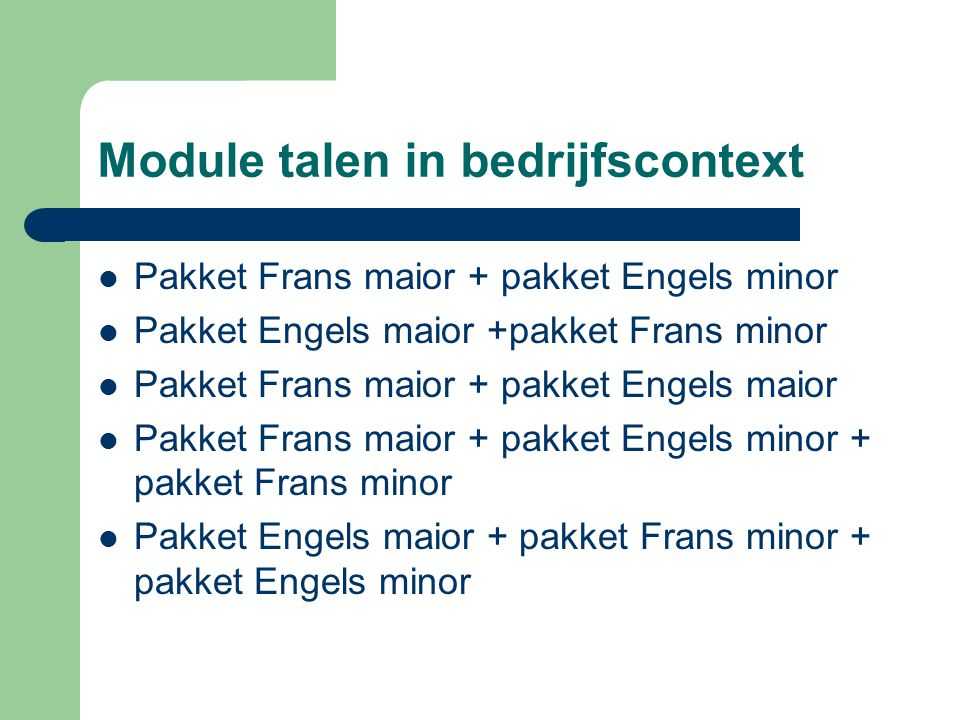 Module talen in bedrijfscontext