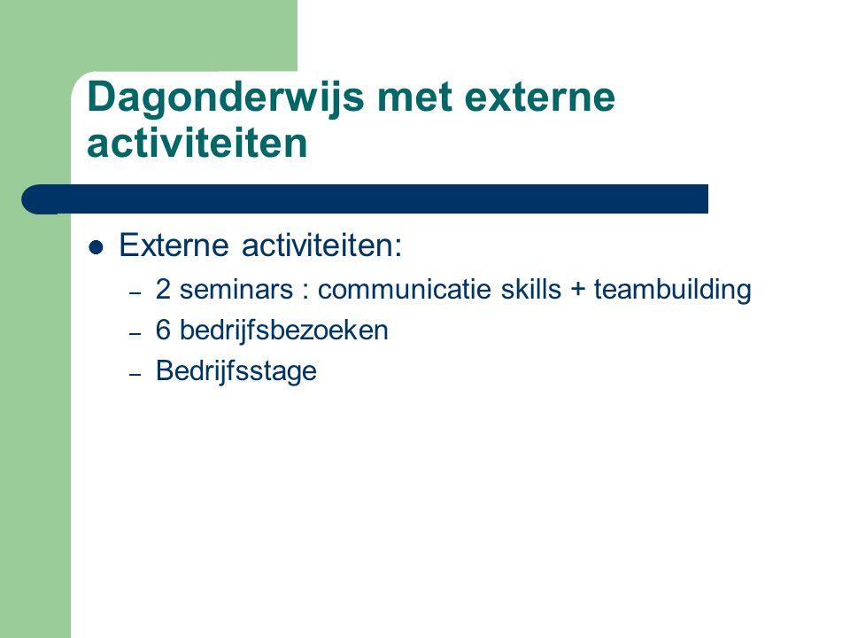 Dagonderwijs met externe activiteiten